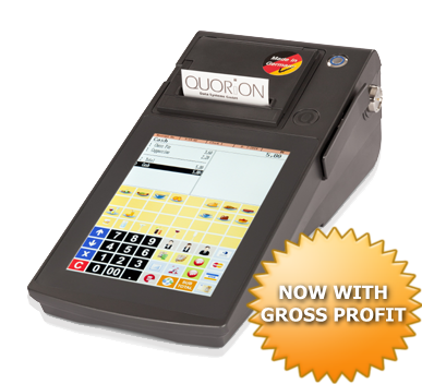 QTouch8 - all in one POS system with 8 inch touch screen and integrated printer